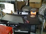 Lot: 9 - (4) Tables,Office Supplies & Cutting Board