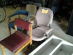 Lot: 29,30&31 - Cabinet, (5) Chairs & Contents Inside Pods