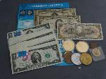 Lot: 737 - TOKENS, FOREIGN CURRENCY & $2 SEQUENTIAL NOTES
