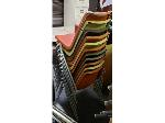 Lot: 7-BE - (11) STACKING CHAIRS, DESK