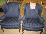 Lot: 31-SP - (2) FABRIC CHAIRS