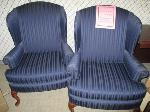 Lot: 32-SP - (2) FABRIC CHAIRS