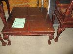 Lot: 35-SP - COFFEE TABLE, (2) SIDE TABLES, DECORATIONS