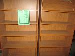 Lot: 37-SP - (2) BOOKSHELVES, (2) DESKS, BOOKS