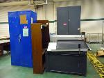 Lot: 89-UV - CABINETS, FILE CABINETS, DRAFTING TABLE, BOOK CASE