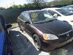 Lot: 414 - 2001 HONDA CIVIC - KEY / RUNS AND DRIVES