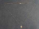 Lot: 22 - NECKLACE WITH 14K PENDANT