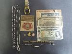 Lot: 192 - WATCH, FOREIGN CURRENCY NOTES, 14K &18K CHARMS