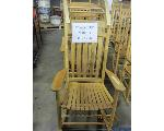 Lot: 706 - (4) WOODEN ROCKING CHAIRS