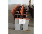 Lot: 787 - (2 ROWS) THEATER STYLE WOOD SEATS