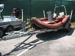 Lot: 58.AUSTIN - 1999 Patten 17-ft Inflatable Boat, Motor & Trailer