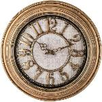 Lot: A7622 - 24-inch Antique Gold Round Wall Clock