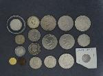 Lot: 7078 - GOLD PANDA COIN, PEACE & IKE DOLLARS & FOREIGN COINS