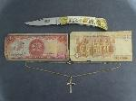 Lot: 7081 - FOREIGN CURRENCY & NECKLACE/10K PENDANT