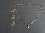 Lot: 7084 - NECKLACE & 14K RINGS