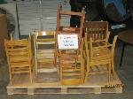 Lot: 918 - (13) WOODEN CHAIRS