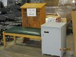 Lot: 927&928 - PODIUM, BENCH, STORAGE CABINET & (7) PROJECTION SCREENS