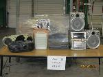 Lot: 939 - CORDS, KEYBOARDS, BOOMBOXES, PA