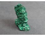 Lot: 788 - GREEN MALACHITE HEAD SHAPED FIGURINE