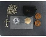 Lot: 7104 - TOKENS, 1ST DAY COVER & STERLING ROSARY