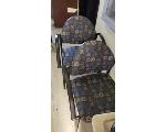 Lot: 4&5.BE - Cart, TV, File Cabinet & (8) Chairs