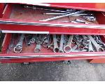 Lot: 80.UV - (3) TOOL CHESTS, ROLLING CART, GAS CYLINDERS & CHAIRS
