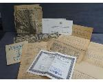 Lot: 249 - BLUE TOPAZ STONE, FOREIGN BILLS & WW2 PAPERS
