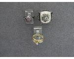 Lot: 268 - 14K RINGS & STERLING RING