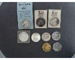 Lot: 7134 - SILVER ROUNDS & COMMEMORATIVE COINS