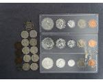Lot: 7195 - 1963 COIN SETS, NICKELS, PENNIES & FOREGIN COINS