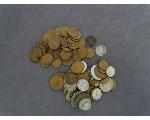 Lot: 276 - CAPPED BUST DIME, WHEAT PENNIES & FOREIGN COINS