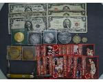 Lot: 292 - BASKETBALL CARDS, PENDANTS, SILVER CERTS. & RED SEAL BILLS<BR><span style=color:red>No Credit Cards Accepted! CASH OR WIRE TRANSFER ONLY!</span>