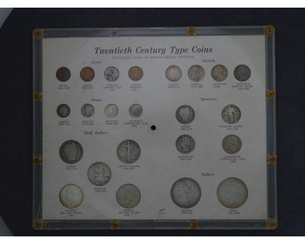 LSO Auctions - Lot: 844 - 20TH CENTURY TYPE COIN COLLECTION (Item