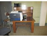 Lot: 37.SP - STOOLS, DESK, ROLLING CHAIR,  FILE ORGANIZER.