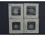 Lot: 308 - SEATED LIBERTY DIME & THREE CENT PIECES