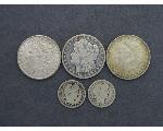 Lot: 319 - MORGAN DOLLARS & BARBER QUARTERS