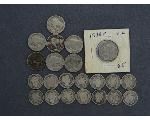 Lot: 7271 - SEATED DIME, BARBER DIMES & NICKELS