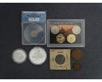 Lot: 7279 - NICKEL SET, LARGE CENT, DIME, PENNIES & FOREIGN