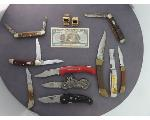 Lot: 892 - FOREIGN CURRENCY & POCKET KNIVES