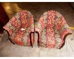 Lot: 02-22592 - (2) Fabric Chairs