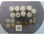 Lot: 906 - MORGAN, PEACE & IKE DOLLARS, QUARTERS & FOREIGN