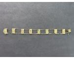 Lot: 922 - 14K ROPE/NUGGET BRACELET