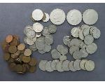 Lot: 927 - IKE & SBA DOLLARS, QUARTERS, DIMES, NICKELS & PENNIES