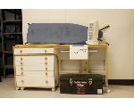 Lot: 37 - Sewing Tables, Tool Box, Air Purifier