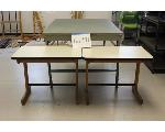 Lot: 41 - Cutting table w/ Self-Healing Top & (2) Small Tables