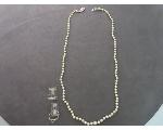 Lot: 7386 - PEARL LIKE NECKLACE & 14K/18K WEDDING SET