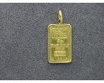 Lot: 7389 - 5 GRAM GOLD BAR PENDANT