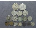 Lot: 47 - LIBERTY & FRANKLIN HALVES, QUARTERS, DIMES & NICKELS