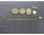 Lot: 49 - CHARMS, PINS, 10K BRACELET & 14K NECKLACE/CHARM