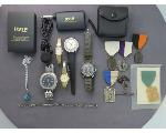 Lot: 55A - WATCHES, PENDANT, MEDALS & BRACELET